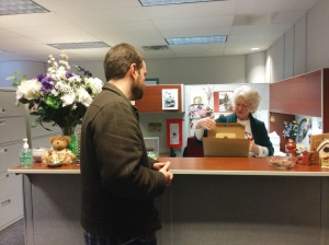 Ryan Eckes, adjunct in the English department, turns petition into the PLRB.